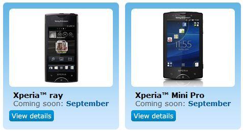 Sony Ericsson Xperia ray on the way to O2