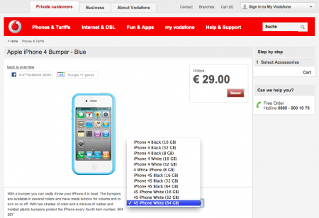 Vodafone iPhone 4S bumper available now....