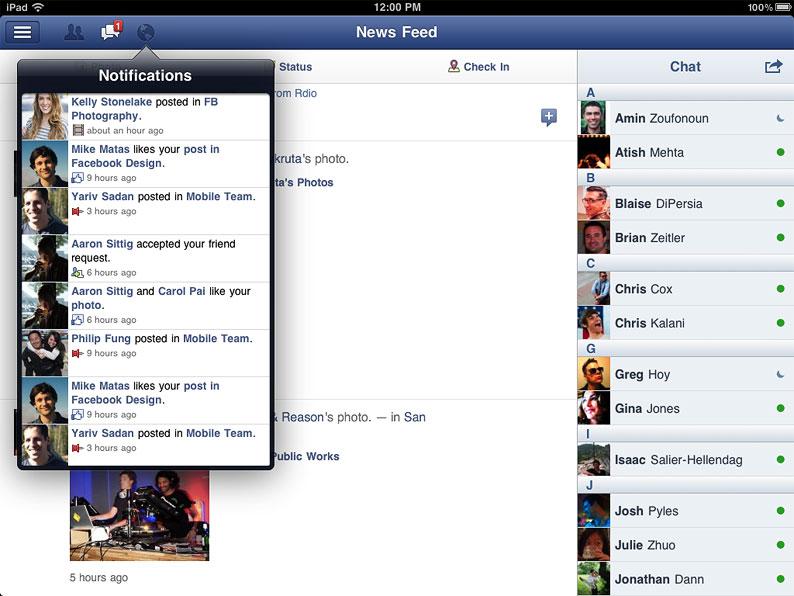 facebookIpad
