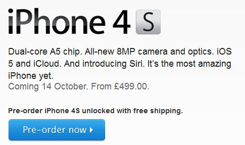 Apple store updating, 4S pre orders starting