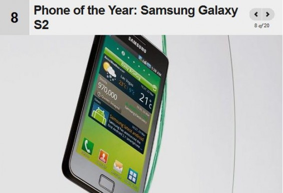 Galaxy SII Wins again   Phone of the Year
