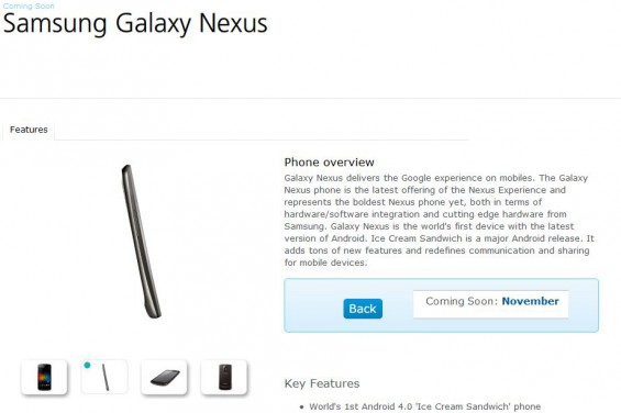 Galaxy Nexus coming to O2