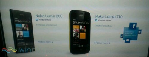 Nokia Lumia 710 and 800 leaked