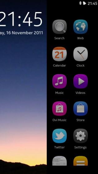 Nokia N9 screenshot   Swipe UI