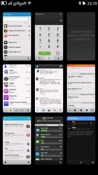 Nokia N9 screenshot   multitasking panel