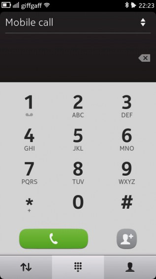 Nokia N9 screenshot   dialer
