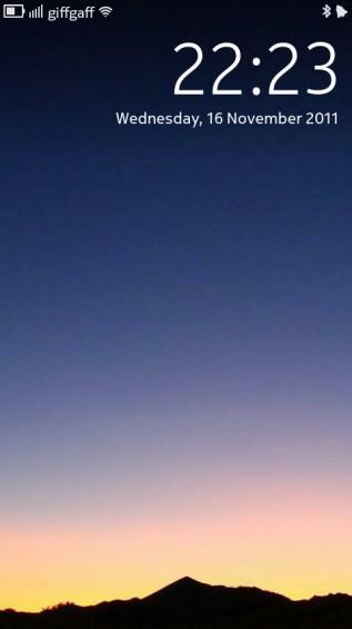 Nokia N9 screenshot   lockscreen wallpaper