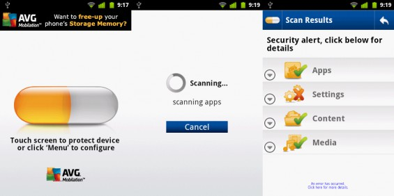 Android App Review   AVG Antivirus Free
