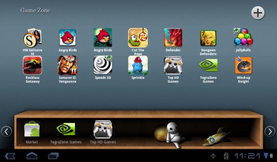 Acer Iconia folders