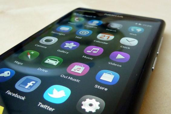 Nokia N9 main screen