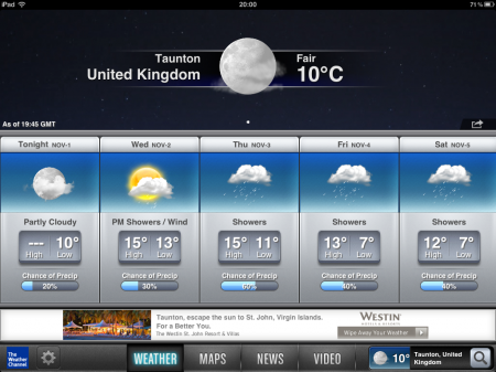 iPad / iPhone App   The Weather Channel