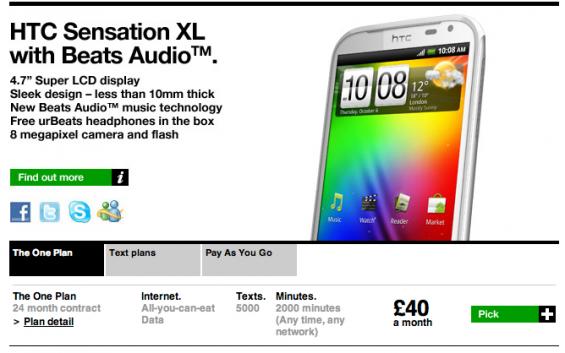 Three Launch HTC Sensation XL