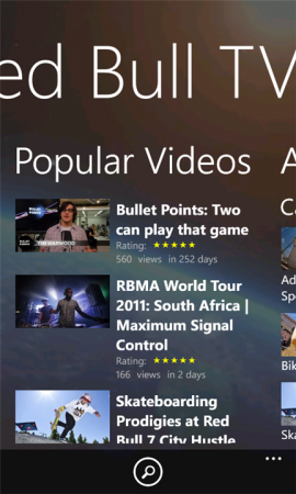 Coolsmartphone Recommended Windows Phone App   Red Bull TV