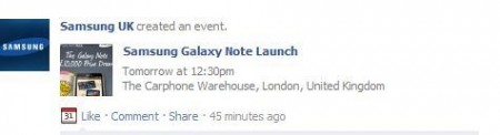 Samsung Galaxy Note   released tomorrow