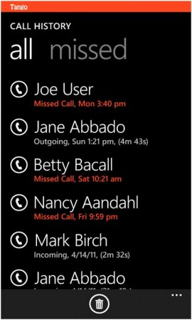 Tango video calling app released for Windows Phone.