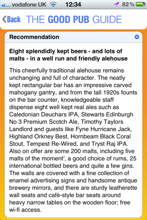 App Review   The Good Pub Guide 2012