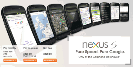 Nexus S only £199 at Carphonewarehouse