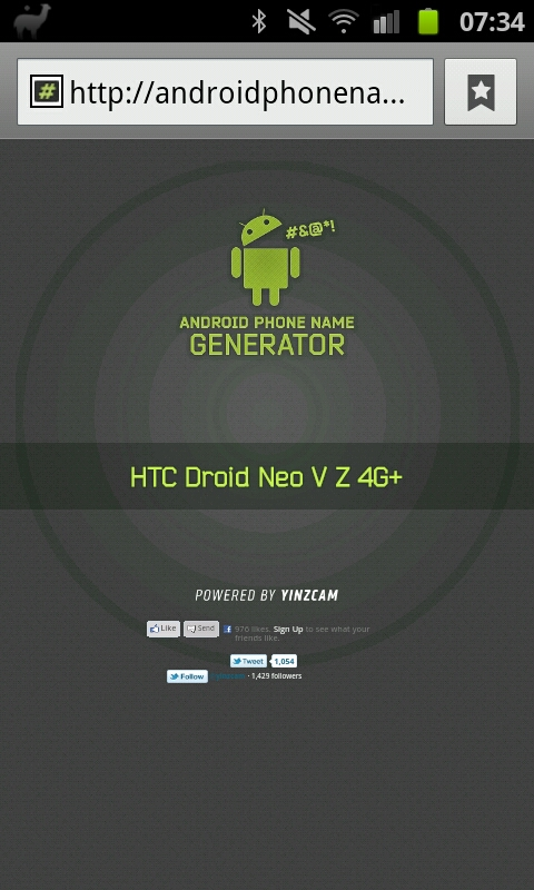 Fun   The Android Phone Name Generator