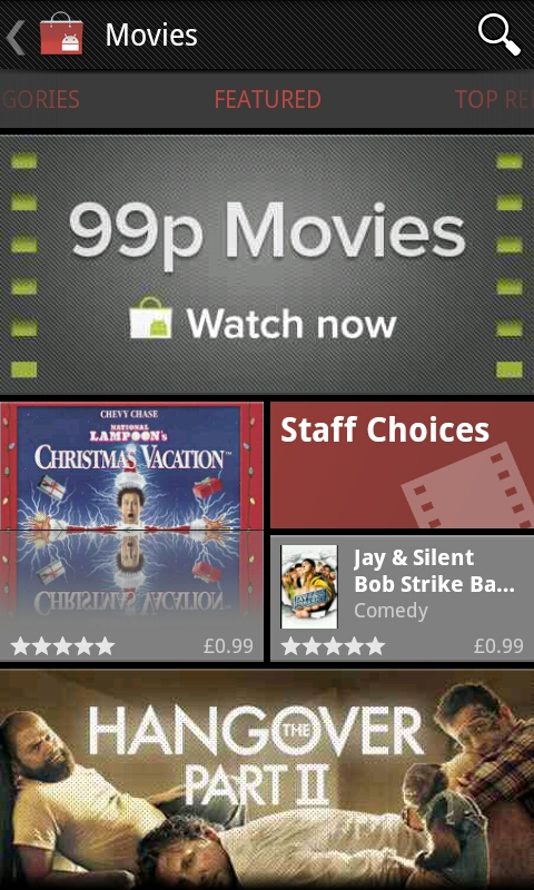 99p Movies available to rent