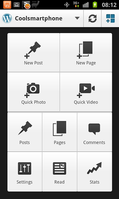 Wordpress Android app updated
