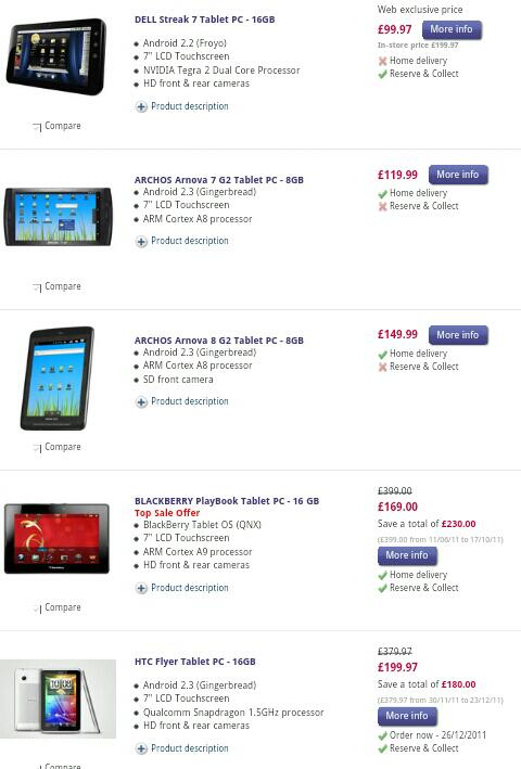 Currys sale already on   Cheap tablets galore
