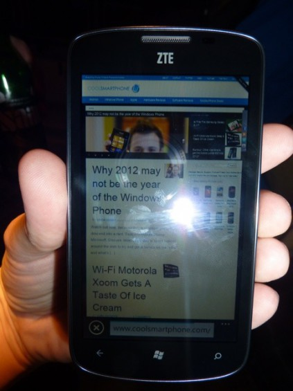 ZTE Tania now in stock at various outlets