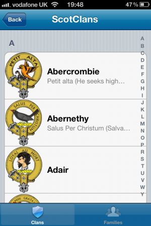 App Review   Scottish Clans