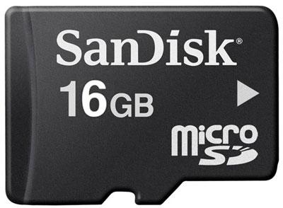 SANDISK 16GB MICROSD PROD