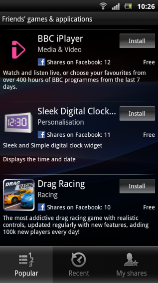 SE Xperia pro screenshot   games and apps