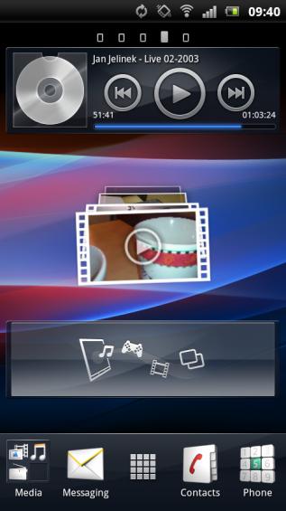SE Xperia pro screenshot   home 1
