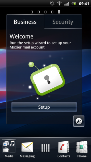 SE Xperia pro screenshot   home 2