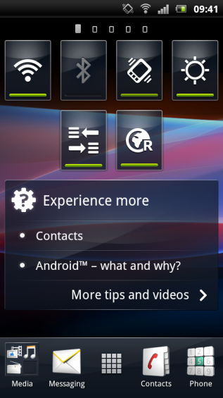 SE Xperia pro screenshot   home 3