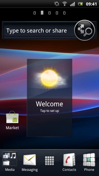 SE Xperia pro screenshot   home 4
