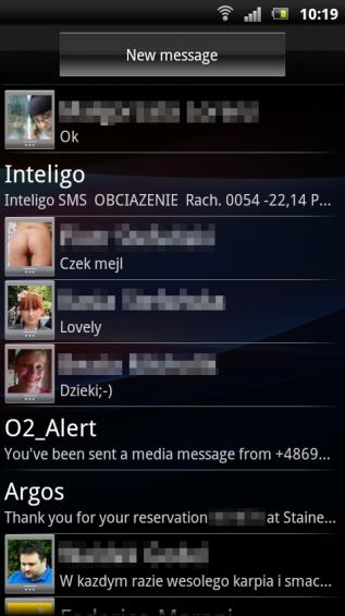 SE Xperia pro screenshot   messages
