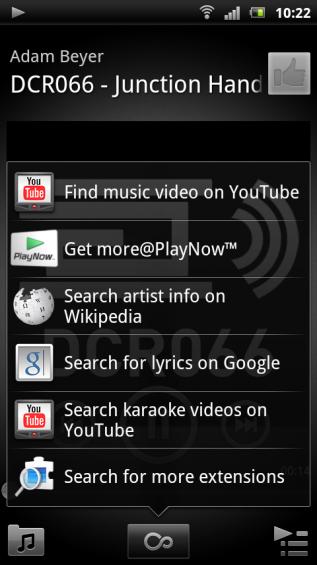 SE Xperia pro screenshot   music player 2