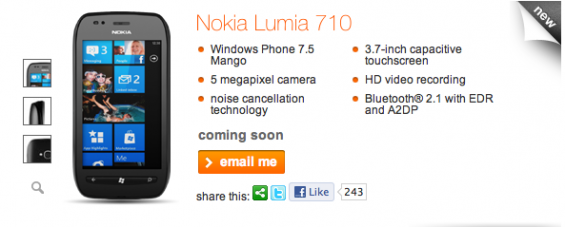 Nokia Lumia 710 Coming To Orange