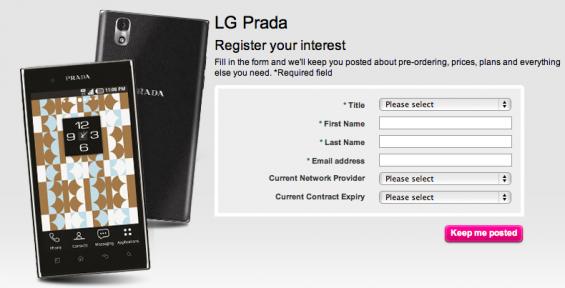 LG Prada 3.0 Coming T Mobile