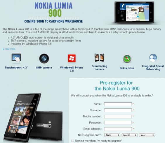 Nokia Lumia 900 Hitting the UK in June!