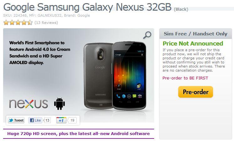 galaxy nexus 32