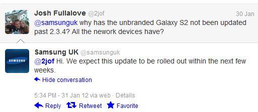 Samsung Galaxy S2 Unbranded Update.. Update