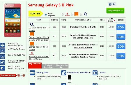 Galaxy S2   Get in the pink