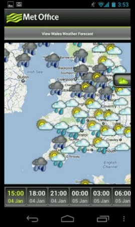 The Met Office Weather Application finally appears on Android