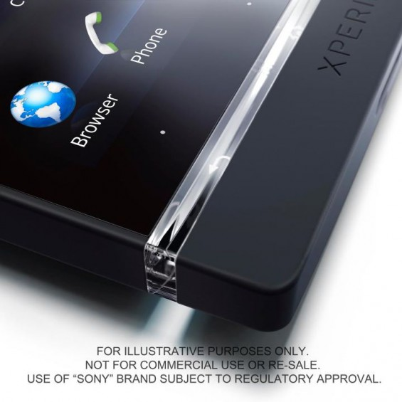 Xperia S   Light belt tells you whats happening