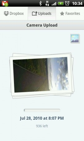 Dropbox Android beta 2.0.9   auto photo upload