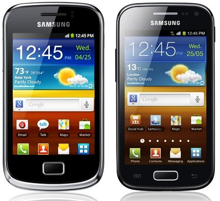 Samsung Ace 2 and Mini 2 also T Mobile bound