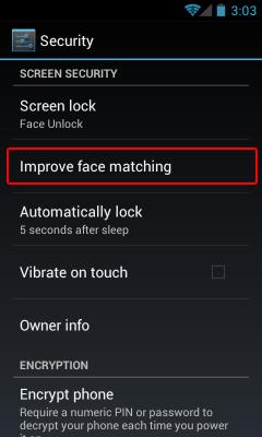 Improving Facelock Match