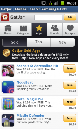 GetJar free app store