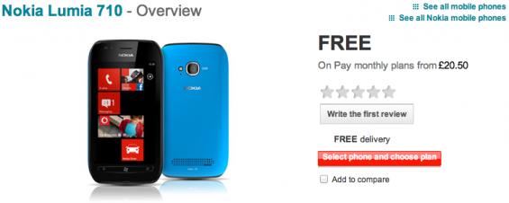 Nokia Lumia 710 Now On Vodafone