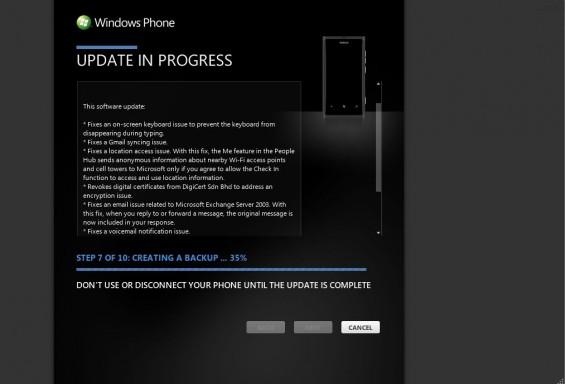 WindowsPhone ZuneUpdate1