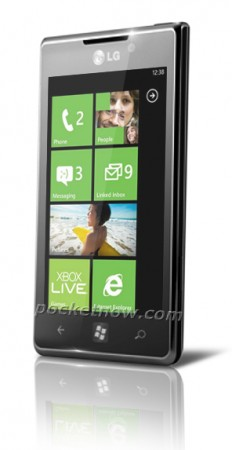 LG Miracle Windows Phone Rendered